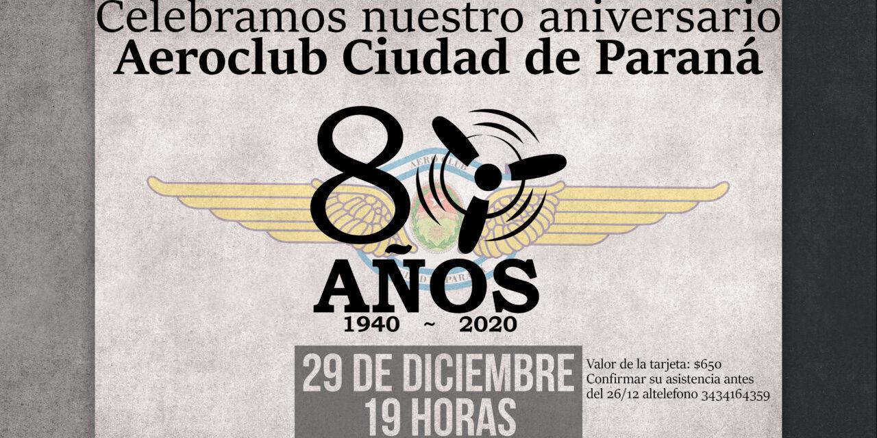 Celebramos los 80 años de nuestro Aeroclub.