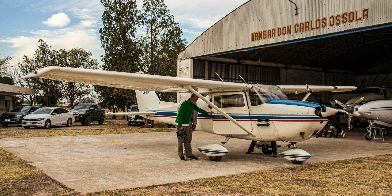 Arribo del C172 LV-HBP a nuestro Aeroclub.